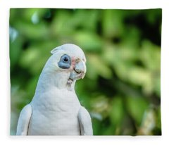 Corellas Outside During The Afternoon. Fleece Blanket