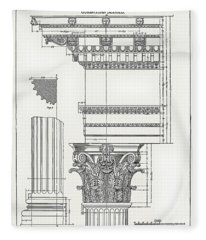 Corinthian Architecture Fleece Blanket
