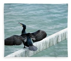 Cormorant Roosting Place Fleece Blanket