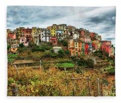 Corniglia Cinque Terre Fleece Blanket