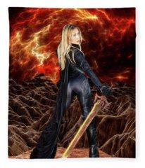 Cosmic Destroyer Fleece Blanket