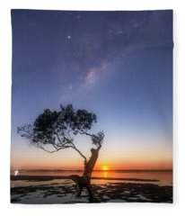 Cosmic Tree Fleece Blanket