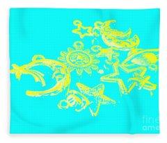 Cosmos Caricatures Fleece Blanket