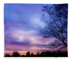 Cotton Candy Sunset In October Fleece Blanket
