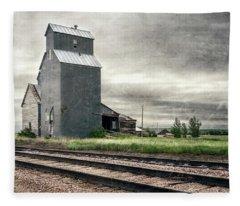 Cottonwood South Dakota Grain Elevator IIi Fleece Blanket