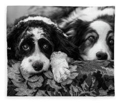 Couch Potatoes Fleece Blanket