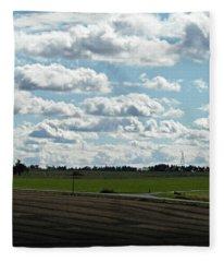 Country Autumn Curves 4 Fleece Blanket