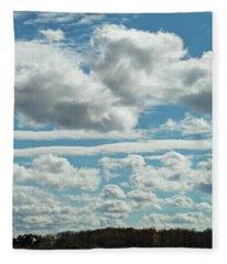 Country Autumn Curves Fleece Blanket