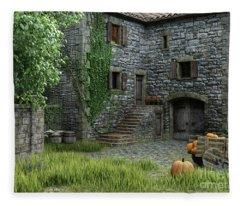 Country Farmhouse Fleece Blanket