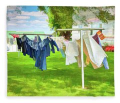 Holmes County Photographs Fleece Blankets
