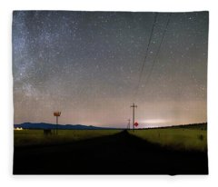 Country Road Nights Fleece Blanket