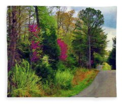 Country Road Take Me Home Fleece Blanket