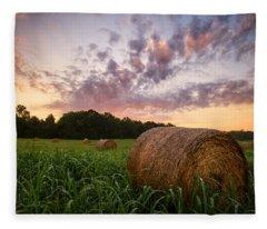 Country Sunrise Fleece Blanket