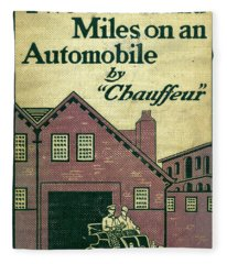 Cover Design For Two Thousand Miles On An Automobile Fleece Blanket