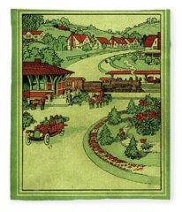 Cover Of Thirty Miles Around Philadelphia Fleece Blanket