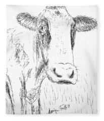 Cow Doodle Fleece Blanket