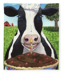 Cow's Pie Fleece Blanket