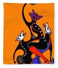 Coyote Moon  Fleece Blanket