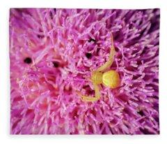 Crab Spider Fleece Blanket