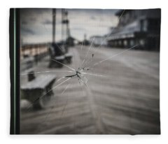 Fleece Blanket featuring the photograph Crack by Steve Stanger