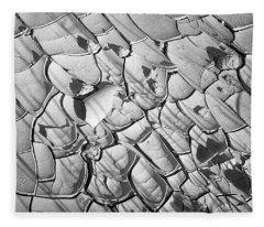 Cracked Earth Abstract Fleece Blanket