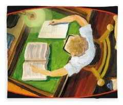 Crack'n The Books Fleece Blanket