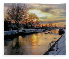 Cranfleet Canal Boats Fleece Blanket