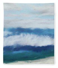 Crashing Waves 2- Art By Linda Woods Fleece Blanket