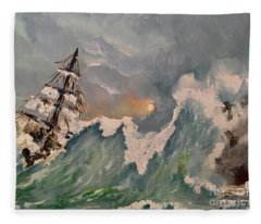 Crashing Waves Fleece Blanket