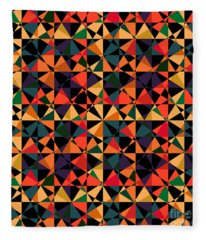 Crazy Psychedelic Art In Chaotic Visual Shapes - Efg214 Fleece Blanket