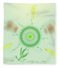Crazy Spinning Flower Fleece Blanket