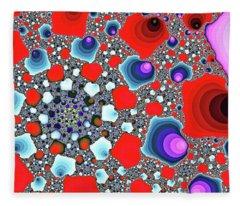 Creative Spiral Abstract Art Fleece Blanket