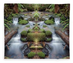 Creek Diamonds #1n Fleece Blanket