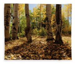 Crested Butte Colorado Fall Colors Panorama - 3 Fleece Blanket