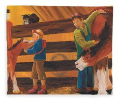 Cricket And Ginger Fleece Blanket
