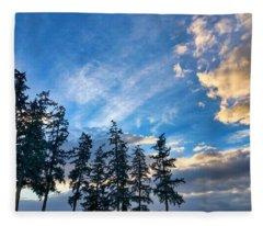 Crisp Skies Fleece Blanket