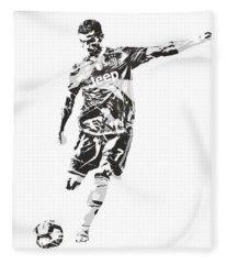 Cristiano Ronaldo Juventus Pixel Art 2 Fleece Blanket