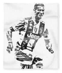Cristiano Ronaldo Juventus Water Color Pixel Art 4 Fleece Blanket
