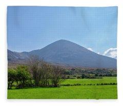 Croagh Patrick In County Mayo Ireland Fleece Blanket