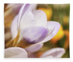 Fleece Blanket featuring the photograph Crocus by Whitney Goodey