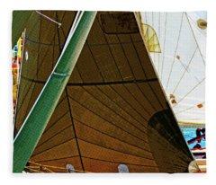 Crossing Sails Fleece Blanket