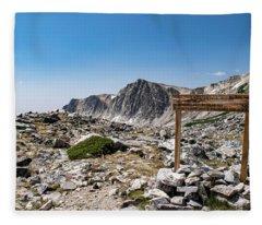 Crossroads At Medicine Bow Peak Fleece Blanket