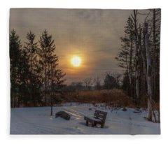 Sunrise At Crossroads Fleece Blanket