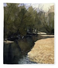 Crow Creek, Augusta, Missouri Fleece Blanket