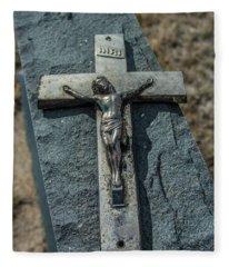 Crucifix Fleece Blanket