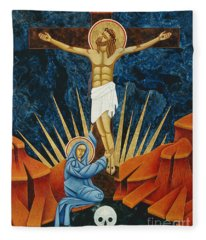 Crucifixion By Jodi Simmons Fleece Blanket