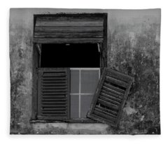Crumblling Window Fleece Blanket