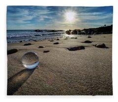 Crystal Ball Sunset Fleece Blanket
