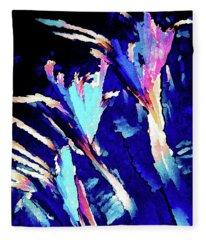 Crystal C Abstract Fleece Blanket