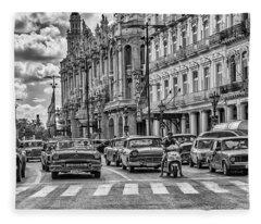 Cuba Traffic Fleece Blanket